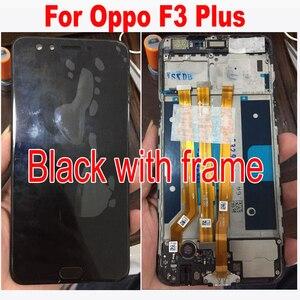 Image 2 - Oryginalny jakości czarny/biały 6.0 cal dla Oppo F3 Plus wyświetlacz LCD + ekran dotykowy Digitizer zgromadzenia z ramki część zamienna