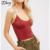 Nuevo 2017 Verano Mujeres Sling Bottoming Camis Crop Tops Breve Slim Fit Niñas Chaleco Tapas Del Tanque Ocasionales Tendencia Del Todo-Fósforo Camisola