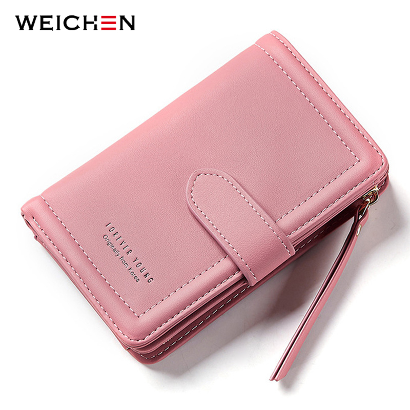 WEICHEN New Designer Notebook Small Women Wallet Lady Clutch Wallets Coin Purse Credit Card Holder Purse Girl Carteira Feminina
