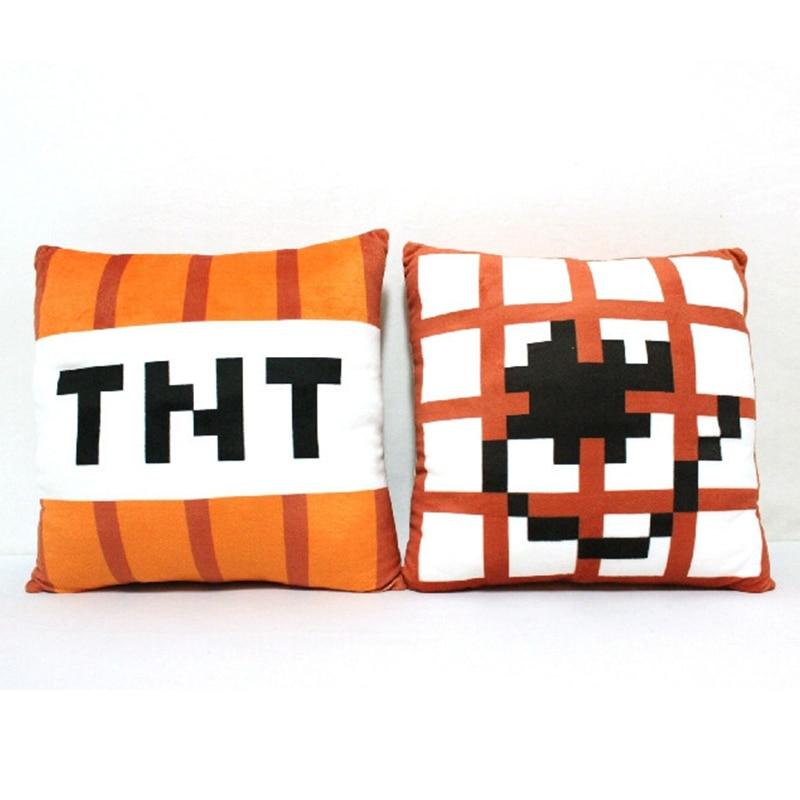 New Minecraft TNT Plush Pillow 40cm Minecraft TNT Plush Toys Doll - პლუშები სათამაშოები - ფოტო 2