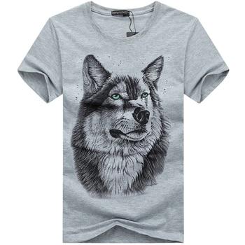 3D Wolf head T-shirt 1
