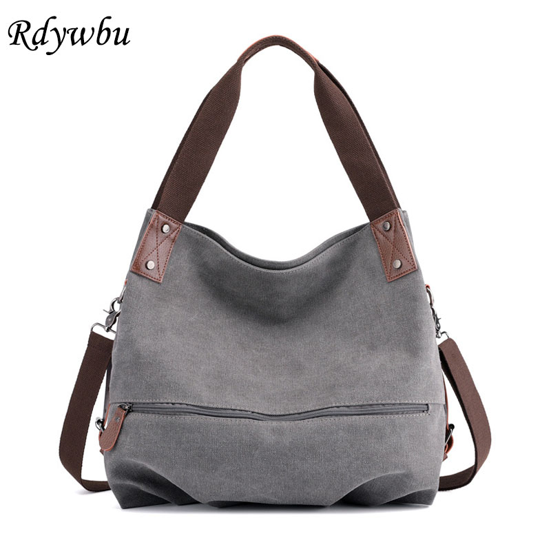 bfbd0c9ff366 Rdywbu High Quality Zippered Canvas Shoulder Bag Women Casual Summer Tote  Handbag Girls Big Capacity Messenger