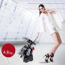 2019Multifunctional 3 in 1 Luxury Baby Stroller Folding Trolley Type High Landscape Infant Child Stroller Can Sit Reclining usa free shipping hjbb high landscape stroller baby can sit reclining folding trolley 4 in 1 with comfortable car seat