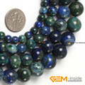 "Round Malachite Azurite Beads,Selectable Size 6mm To 12mm,DIY Loose Beads For Jewelry Making Strand 15"" Free Shipping"