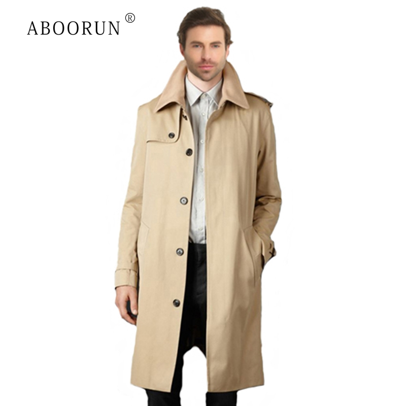 Trench Coat Men Casual Windbreaker Slim Long Jacket and Coat Winter Fleece Overcoat Khaki Male Trench Jacket Plus Size M-9XL