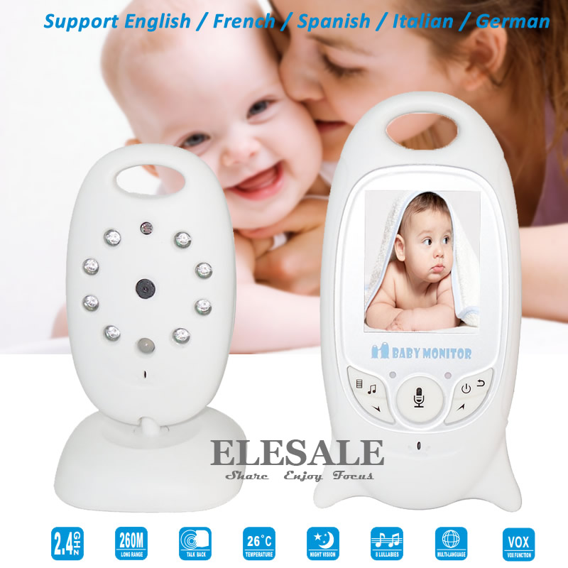 New Infant 2.4GHZ Wireless Digital Video Baby Monitor With 2-Way Intercom Night Vision Temperature Display Radio Nanny digital indoor air quality carbon dioxide meter temperature rh humidity twa stel display 99 points made in taiwan co2 monitor