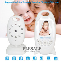New Infant 2.4GHZ Wireless Digital Video Baby Monitor With 2 Way Intercom Night Vision Temperature Display Radio Nanny