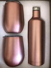 Удивительный креативный подарочный набор бутылка для вина Подарочная коробка для вина стакан пива красное вино чашка с двойными стенками вакуумные крушки термос