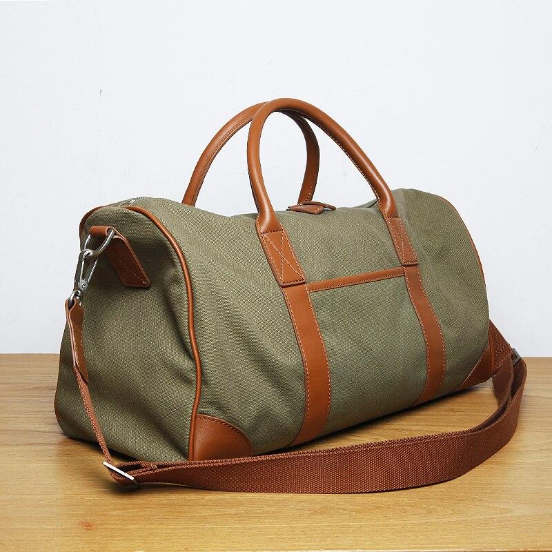 LAN men's canvas bag leather fashion sports bag brand luggage обои lan