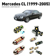 Led interior lights For mercedes cl 1999-2005  12pc Led Lights For Cars lighting kit automotive bulbs Canbus цена