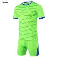 Football Jersey 2017 Breathable Short Sleeve Men S Soccer Jerseys Kit Custom Survetement Football Training Tracksuit
