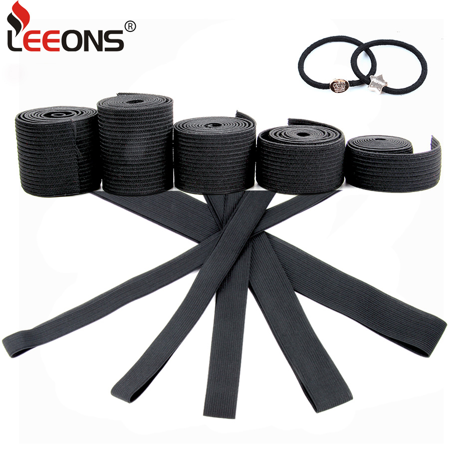 Leeons 1M Elastic Band For Wigs DIY Wig Making Tools Accessories 1.5cm/2.0cm/2.5cm/3.0cm/3.5cm 5 Size Wig Grip Band For Wigcap
