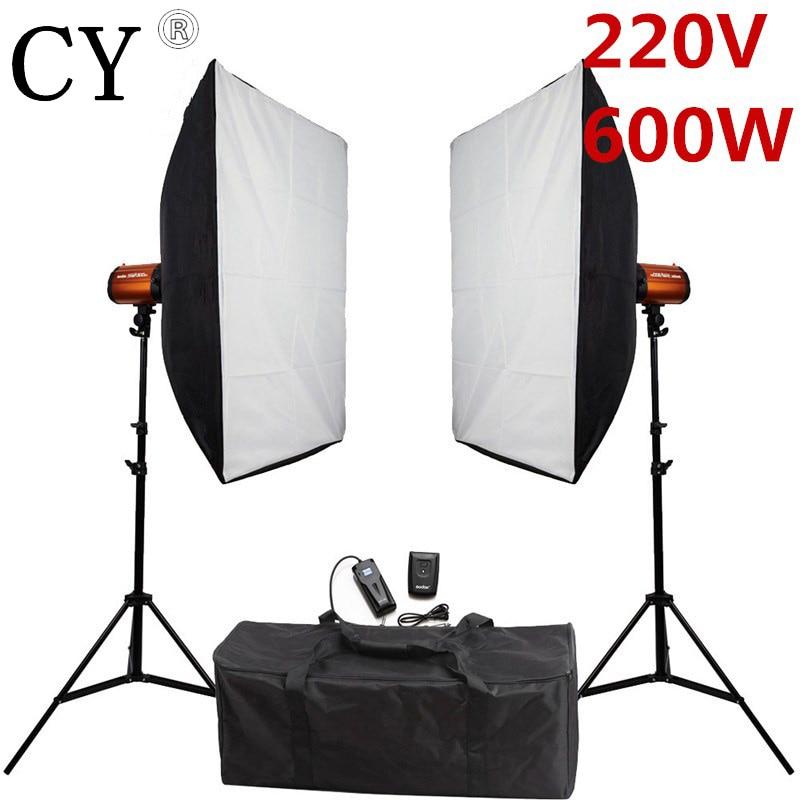 Godox 300SDI Photo Studio Softbox Lighting Kits 600w 220v Strobe Flash Monolight Kit Photography Lightbox Flash Lighting Kits
