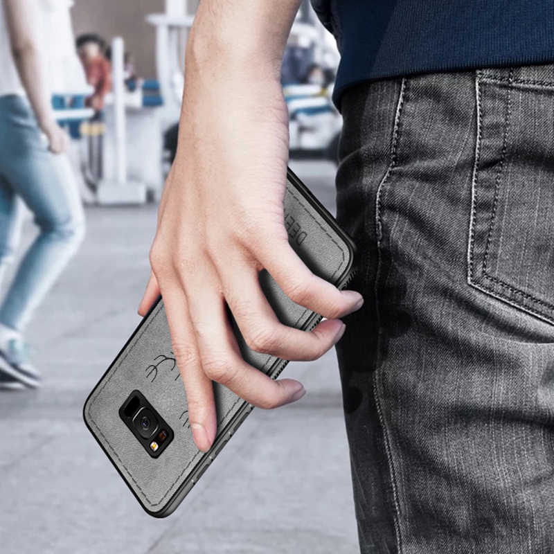 لسامسونج غالاكسي Note10 Note10 + Note10Plus القماش الغزلان حقيبة لهاتف سامسونج غالاكسي S10E S10 S9 S8 زائد A8 A6 زائد A7 2018 S7 حافة ملاحظة 10 زائد 9 8 لينة TPU حافة سيليكون قذيفة غطاء S 10 10 + 10E 9 S 8 S 7S كوكه كابا