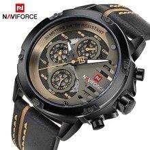 NAVIFORCE-montre de Sport pour hommes, marque de luxe, étanche, Date de 24 h, Quartz, montre-bracelet de Sport