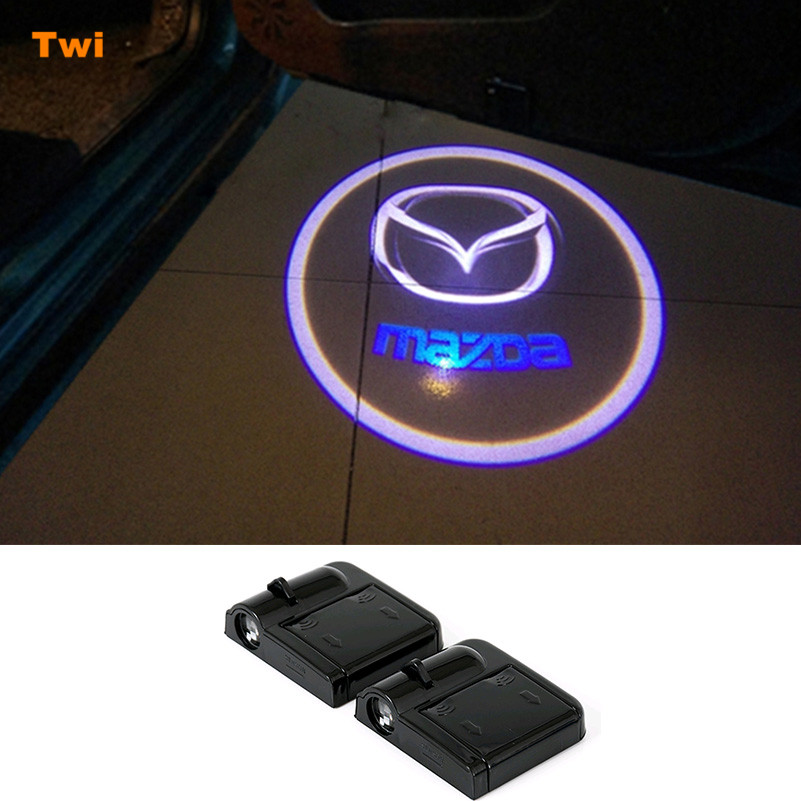 For <font><b>Mazda</b></font> <font><b>3</b></font> spoilers 5 6 cx-5 cx 5 cx5 323 2 626 cx7 cx-7 mx5 cx3 rx8 atenza miata demio cx9 cx3 Car Led Door Logo Welcome Light