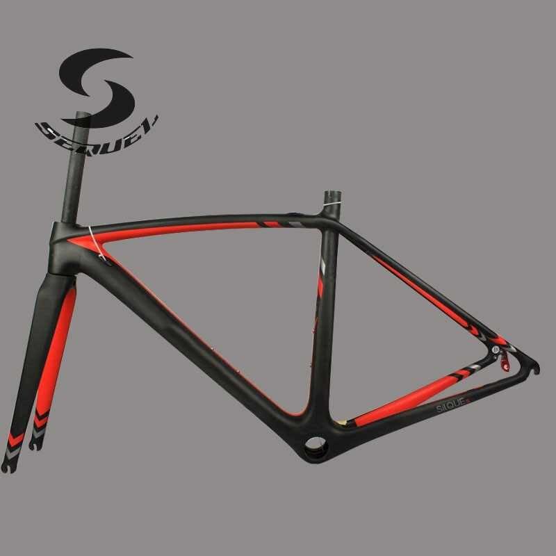⑧2017 Nuevo marco de la bici del camino del carbón 750G Super Light ...