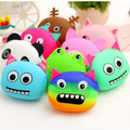 Hot Cute Cartoon Animal Silicone Coin Purse Women Candy Mini Wallets Girls Rubber Purse Bag
