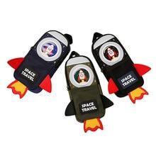 TOPSTHINK Карандаш Чехол сумка для канцелярских принадлежностей творческие ракеты высокой емкости школьная пенал карандаш чехол для маленьких мальчиков и девочек