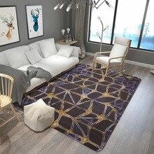 Abstract style lattice carpet Bathroom strip absorbent mat Bedroom bedside carpet non-slip velvet printed rug customize door mat pebble series flannel printing home anti slip absorbent entry mat bathroom mat door mat bedside mat