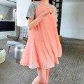 Летние одежда Для Беременных мода куртка Шифон шить свободные платья материнства бесплатная доставка
