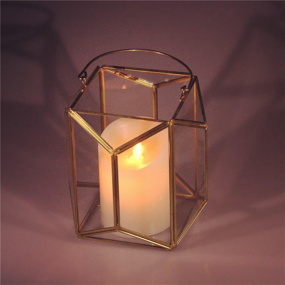 Geometric Glass Terrarium Lantern Tabletop Succulent Plant Hanging