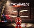 1 unids sensor de la mano de RC teledirigido del vuelo con luz Avengers Spider man Steve soldado juguete volador