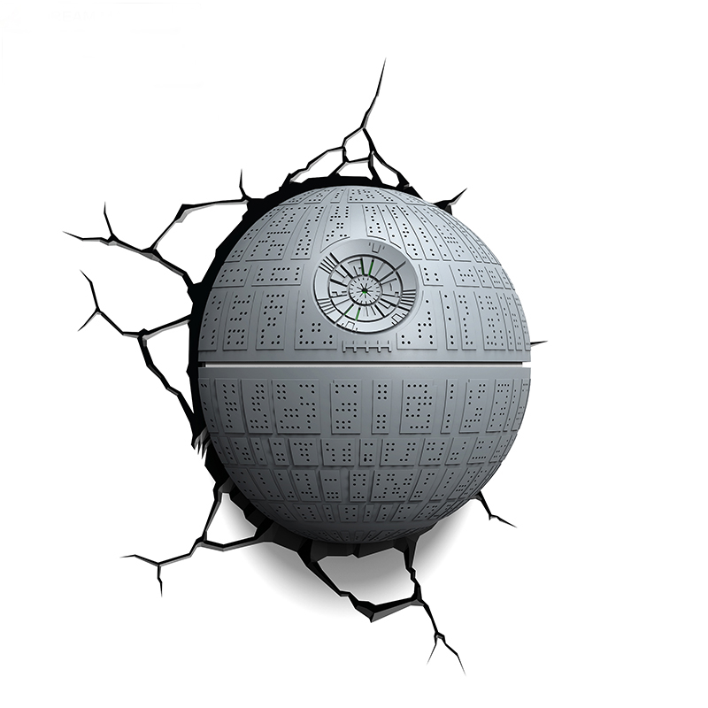 3D Night Light Death Star Wars TOYS Wall Sticker Decor LED Lamp Children Gifts Kids Home Bed Decro Holiday Lighting IY303163 avengers hulk led night light 3d lamp luminaria de mesa lighting toy kids room led usb electronic gadget home decor bed light
