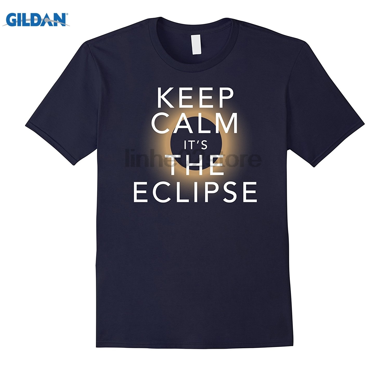 GILDAN Keep Calm Total Solar Eclipse August 21 2017 T Shirt Dress female T-shirt