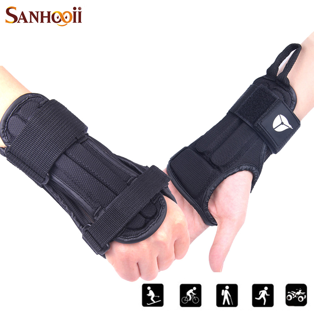Motorcycle gloves palm protection - Sports Hand Protector Gloves Eva Protective Hand Grip Pad Motorcycle Skiing Armguard Wrist Support Palm Padded