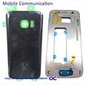 S7 S7 Край Передняя Ближний Рамка Рамка + Задняя Крышка Батареи Для Samsung Galaxy G930 G935 Задняя Крышка Case Корпус с Логотипом