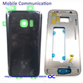 S7 S7 Edge Front Middle Frame Bezel+Battery Back Cover For Samsung Galaxy G930 G935 Back Cover Case Housing with Logo
