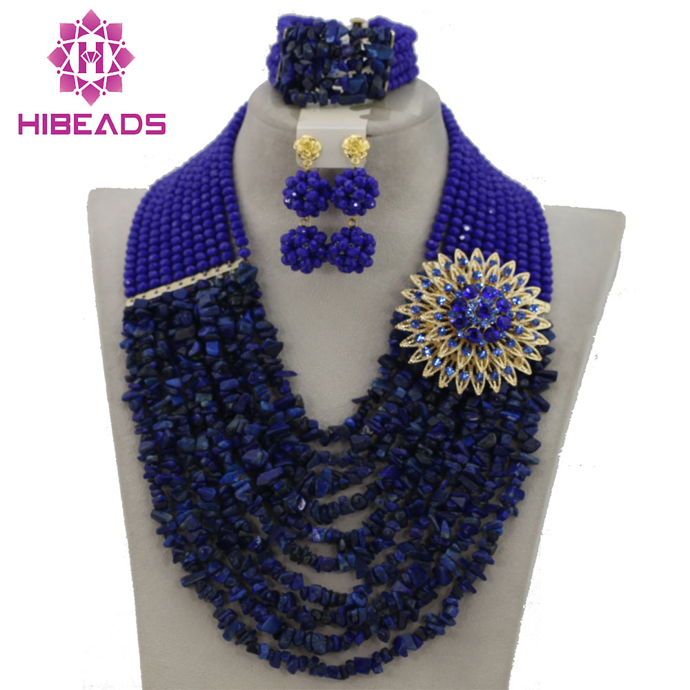 Terrific 2017 Indian Bridal Jewelry Set Blue African Nigerian Wedding Beads Jewelry Set Crystal Beads Set Free Shipping GS433Terrific 2017 Indian Bridal Jewelry Set Blue African Nigerian Wedding Beads Jewelry Set Crystal Beads Set Free Shipping GS433