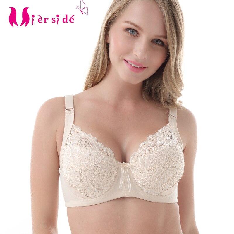 b303cfbafb Mierside 1304 Plus Size Big Bra Sexy Lace Embroidery Bralette women  underwear lingerie 36-44