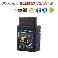 PANDUK yeni marka Obd2 tarayıcı ELM327 V1.5 ELM327 Bluetooth OBD2 Android oto araba teşhis aracı tarayıcı kamyon lansmanı