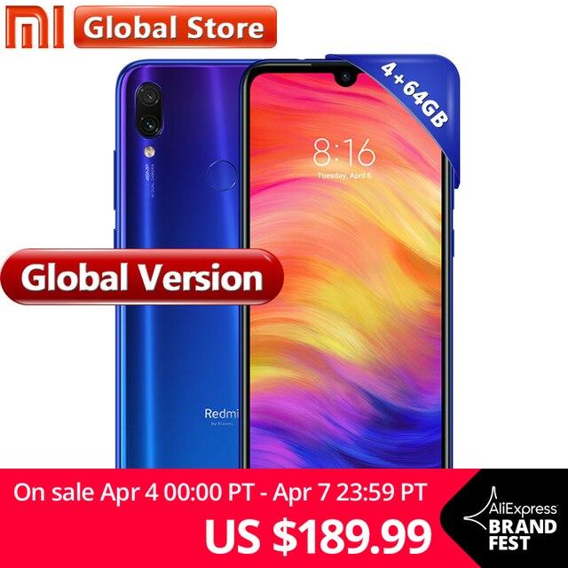 """Global Version Xiaomi Redmi Note 7 64GB 4GB Mobilephone S660 Octa Core 4000mAh 6.3"""" FullScreen 2340x1080 Dual 48MP Camera"""