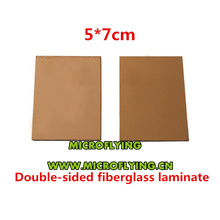 цена на High Quality 5pcs 5*7 cm FR4 PCB Copper Clad Double CCL Sided Laminate Plate Printed Circuit Board 5x7