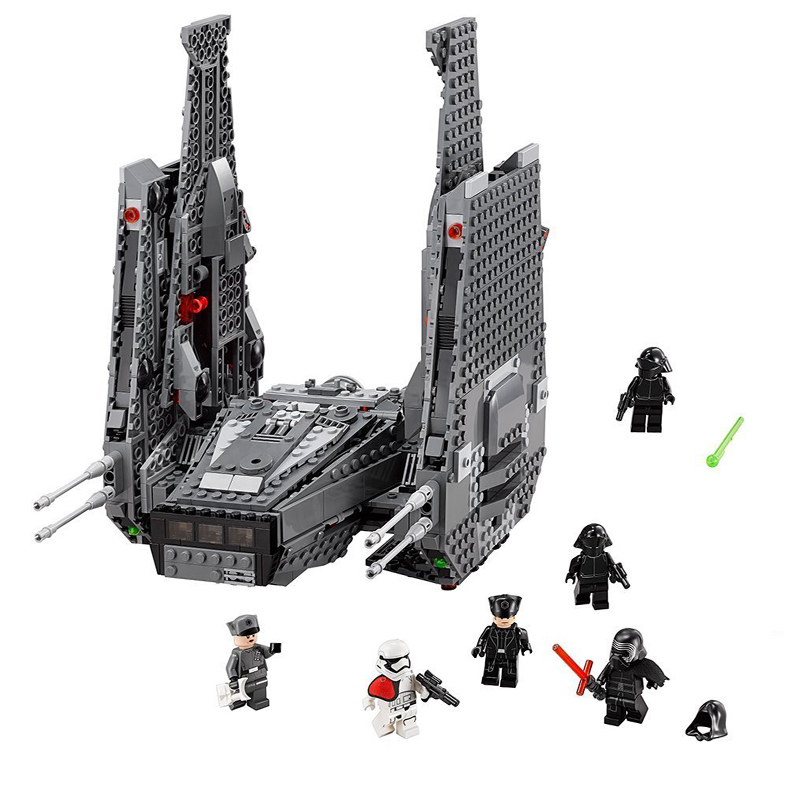 Star Wars Kylo Ren Command Shuttle Model Building Blocks Toys with Character Figures Compatible with LEGOings 75104 lepin 05006 star kylo ren command shuttle lepin building blocks educational toys compatible with 75104 lovely funny toys wars
