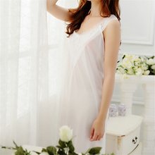 New Arrivals Sexy Elegant Nightgowns Sleepshirts Vintage Home Dress Lace Sleepwear Women Sleep & Lounge Cute Nightgown #H157