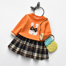 Mother Kids - Childrens Clothing - Godier Princess Baby Girls Dresses Fashion Kids Casual Clothes Sweater Top With Dresses Cotton Costume Plaid Children Clothing