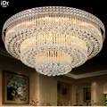 Золотая круглая лампа для гостиной  лампа с кристаллами  потолочные светильники для спальни  торта  гостиной