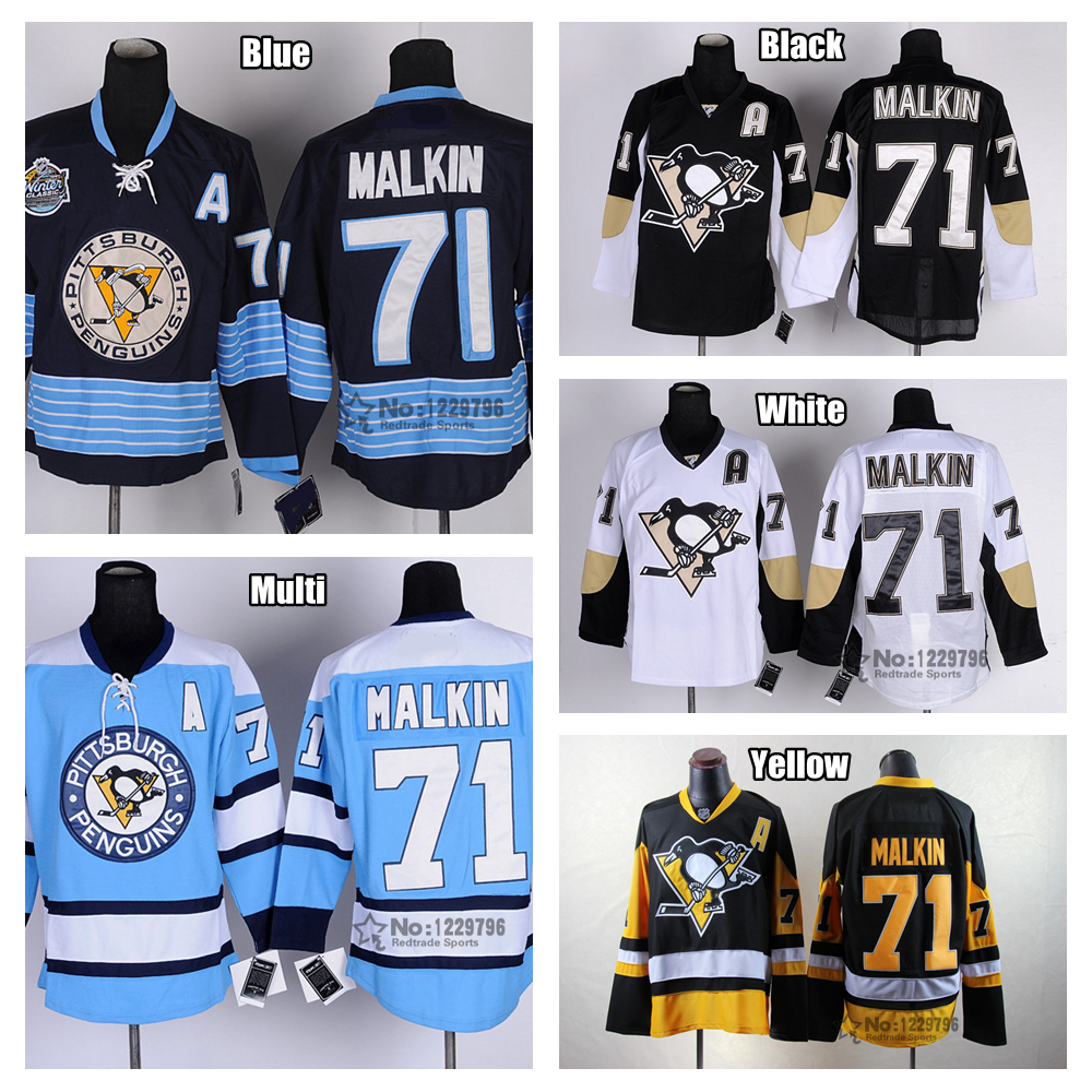 10f1af6291a ... nhl jersey 1c772 9a1f7; low cost mens pittsburgh penguins hockey jerseys  71 evgeni malkin jersey home black alternate yellow winter