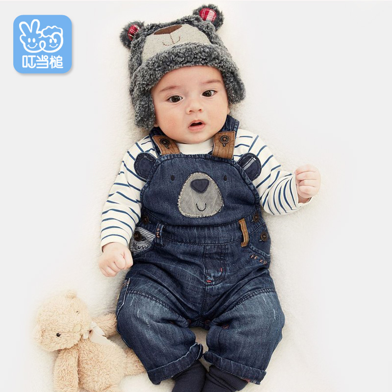 Dinstry Boys Girls Pants spring autumn warm Overalls trousers babys' Casual Pants