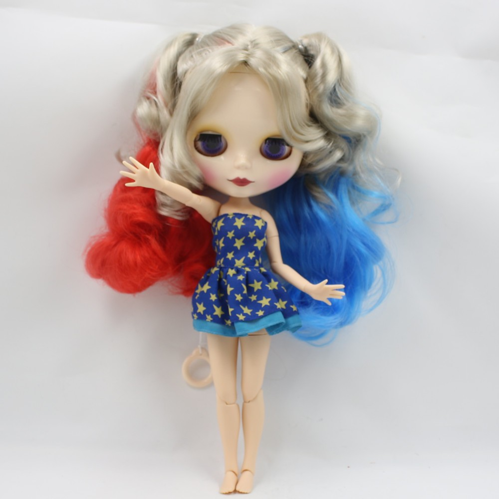 Neo Blythe Doll with Multi-Color Hair, White Skin, Shiny Face & Jointed Body 6