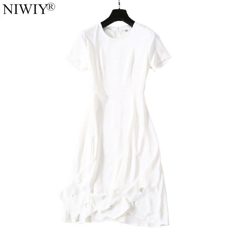 Nueva Mujer hueco en blanco vestido de verano vestido túnica Ete 2019 Femme camiseta Midi playa vestido Kleider Damen Vestidos D9032-in Vestidos from Ropa de mujer on AliExpress - 11.11_Double 11_Singles' Day 1