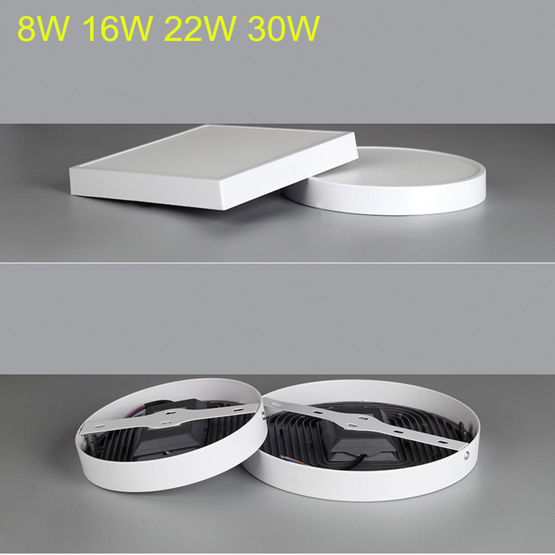 8w 12w 16w Led Kitchen Lighting Fixtures Ultra Thin Flush: 9W/15W/25W/30W Square Led Panel Light Surface Mounted