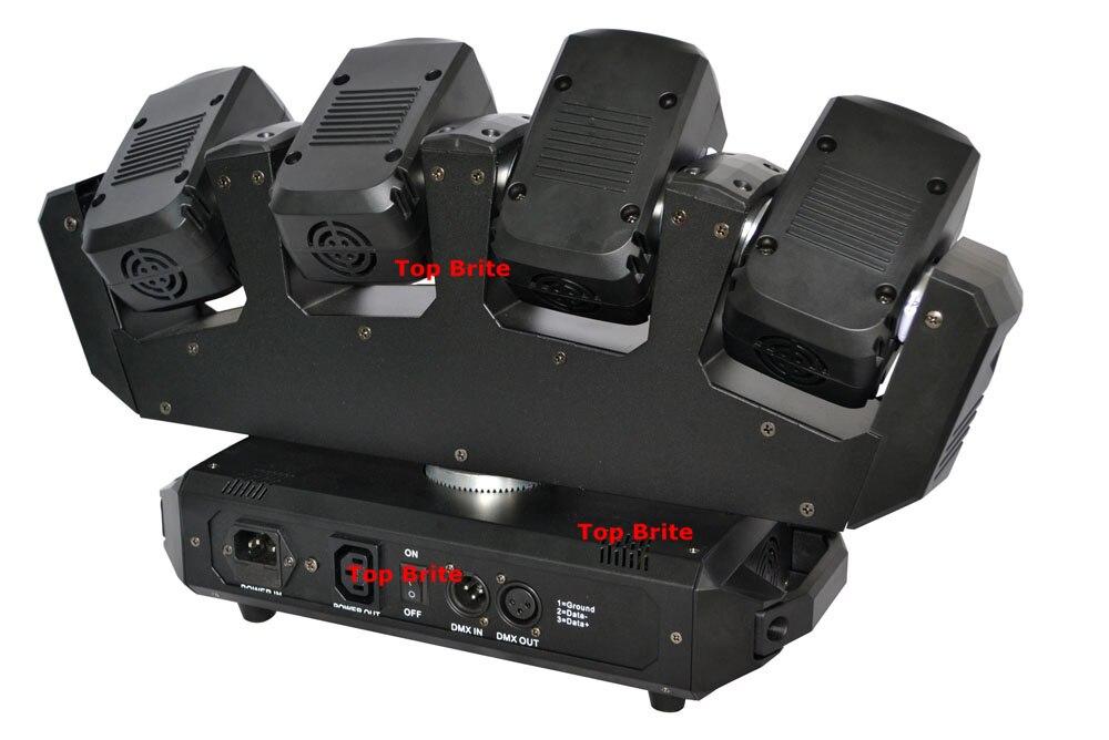 Unikāls dizains 2gab. 4 * 10W RGBW 4IN1 Led kustīga galvas gaisma - Tirdzniecības apgaismojums - Foto 3