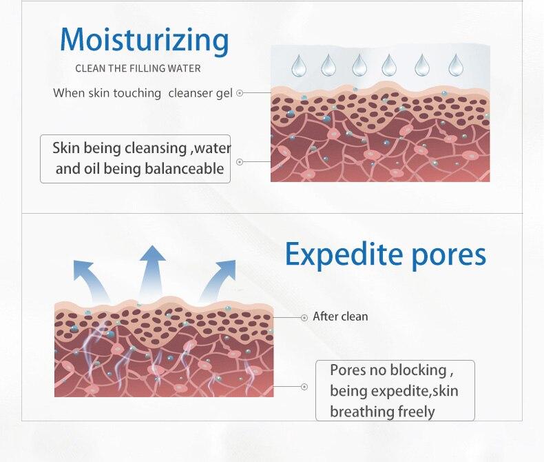 WIS nettoyant visage anti acné gel nettoyant purifiant nettoyage en profondeur huile contrôle rétrécissement pores femme et homme - 4
