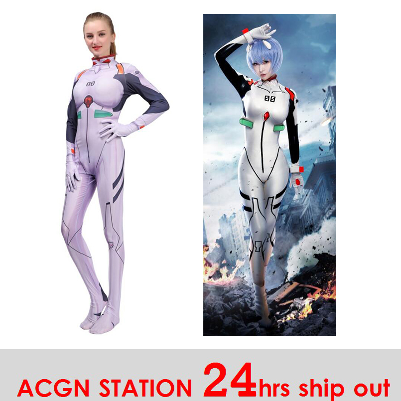 2019 New Kids Children Women Ayanami Rei Cosplay Costumes Movies EVA1 Women Jumpsuits Bodysuits Halloween Costumes