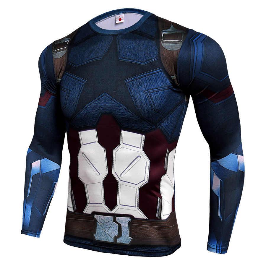 Kualitas tinggi Menjalankan Kemeja Pria Kebugaran T Shirt Hitam Panther Rashgard Cepat Kering Kemeja Sport Gym Tshirt Olahraga Kebugaran Top